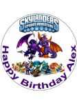 7.5 Personalised Skylanders  Edible Icing Cake Topper
